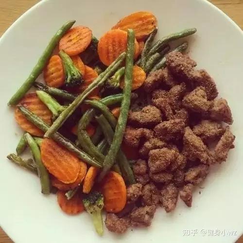 减脂增肌健身餐之牛肉抓饭