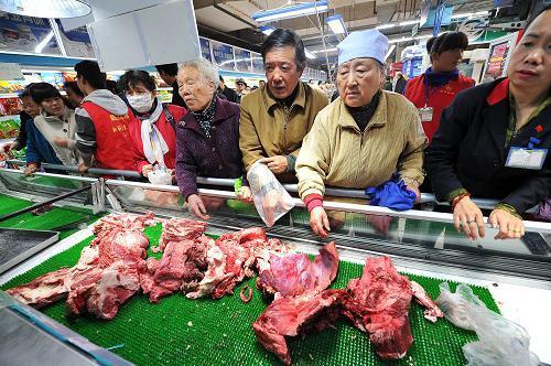 集贸市场 牛羊肉价格下降